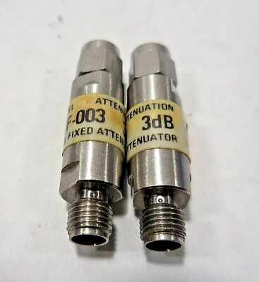 JFW 50F-003 Coax Attenuator SMA Connector (50Ω, 3dB, 1W, DC To 2 GHz) LOT OF 25