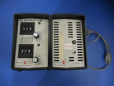 Endevco 104 Charge Amplifier W/ Endevco 109 Power Supply
