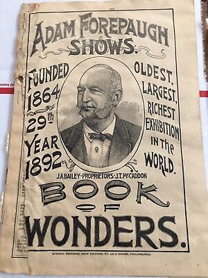 1892 Adam Forepaugh Shows Program