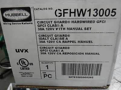 Hard Wired Gfci , 120, Hubbell Cavi Device-Kellems, GFHW13005