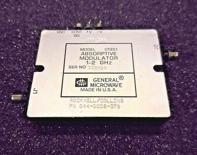 General Microwave D1951, 044-0002-378 Absorptive Modulator (1-2 GHz, Opt. 288)