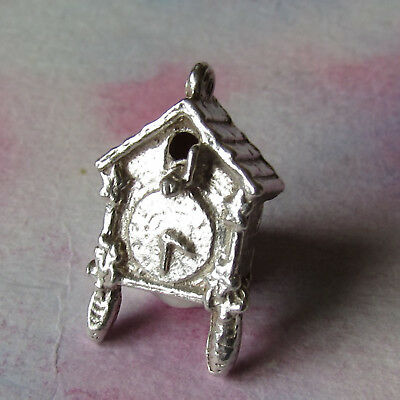 Vintage Silver Small Cuckoo Clock Charm