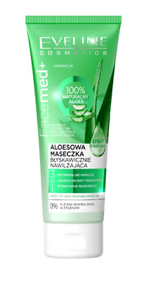 Eveline Facemed + Aloe Face Mask Instantly Deeply Moisturising Effect  50ml
