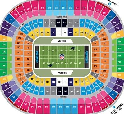 Row 1 Carolina Panthers Vs New Orlean Saints Tickets