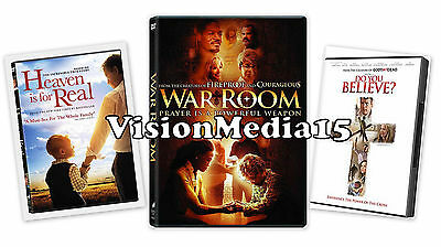 SEALED 3 Pack - Heaven Is For Real - WAR ROOM - Do you Believe SHIPS NOW !