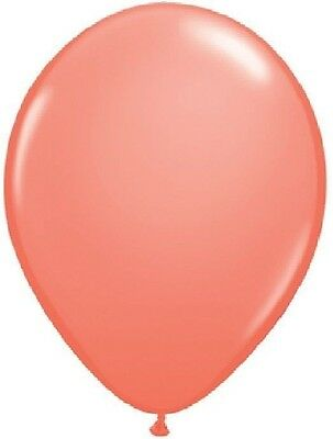 """12 DARK CORAL Pink 12"""" Birthday Party Baby Shower Wedding Deluxe Latex Balloons"""