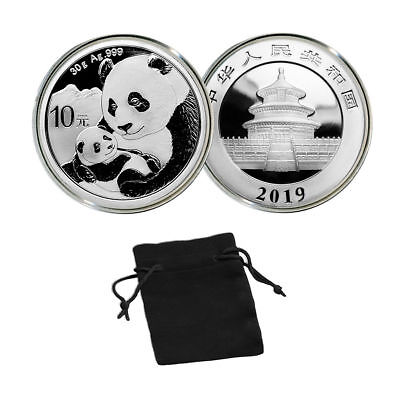 2019 China 30 g Silver Panda 10 Yuan Coin Brilliant Uncirculated