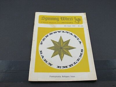 Jul-Aug 1965 SPINNING WHEEL Antiques Magazine : Pennsylvania Antiques Issue