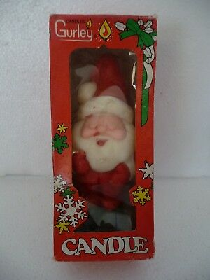 "VINTAGE GURLEY Christmas Candle 5 1/2""  SANTA CLAUS in Original Box, SEALED"