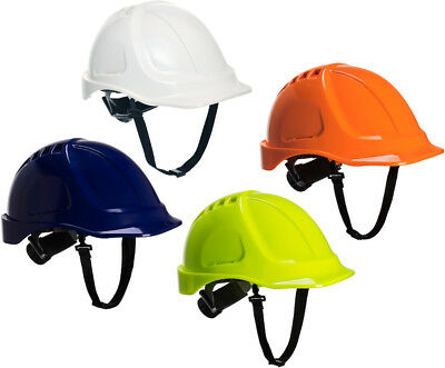 PORTWEST PS54 Endurance Plus white,blue,yellow or orange hard hat safety helmet