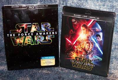 New Star Wars The Force Awakens Blu Ray & Dvd Digital Movie 2015 & Slipcover