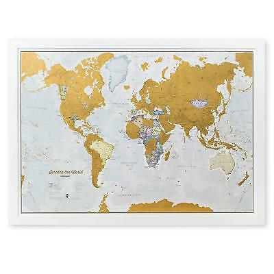 NEW Scratch Off World Map Travel Poster Detailed Cartography 33¼ x 23½ inches