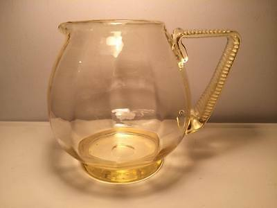 Vintage glass topaz water pitcher