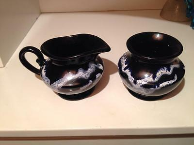 Blue Mountain Pottery Granite Glaze Cream and Sugar