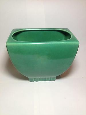Brush Pottery Green  Planter #208 California USA