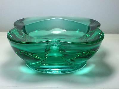 Mid century Rosice Rudolf Jurnikl 1175 art glass bowl Czech Sklo Union