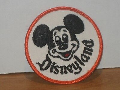 NOS-  Vintage Disneyland Mickey Mouse Round Patch  2 3/4""