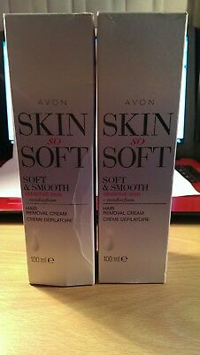 Avon 2 x Skin So Soft Hair Removal Cream. Body Care Beauty Shaving  Gift Xmas