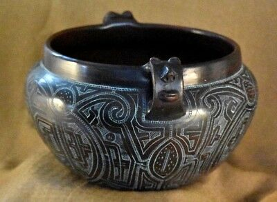Vintage Brazilian Indigenous Amazon Primitive Method Divaldo-Para Pottery Bowl