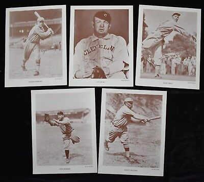 HIGH GRADE 1950s Baseball Monthly Premiums Honus Wagner Cy Young Speaker (5 pcs)