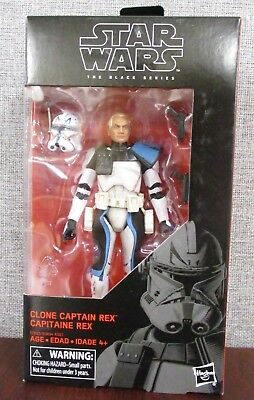 "Hasbro Star Wars The Black Series Clone Captain Rex 6"" Figure  NEW Free Shipping"