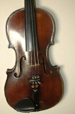 Antique early HOPF violin wood case.
