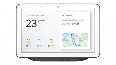 Google Home Hub with Google Assistant (GA00515-US) Charcoal Brand NEW Sealed