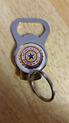 NEWCASTLE BROWN ALE BEER BOTTLE OPENER KEYCHAIN new old stock