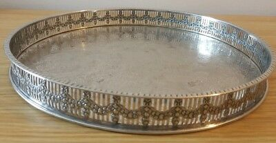 Haseler & Restall 1851 Silver Plate On Copper Handcrafted Sheffield Gallery Tray
