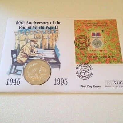 1995 Solomon Islands 5 Dollars End Of World War Ii First Day Cover