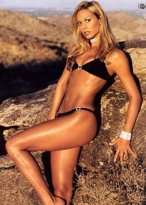 Stacy Keibler Posing Leaning On Stone 8x10 Picture Celebrity Print