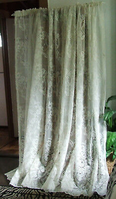 """Lace Curtain Sheer Panels Canopy,two,off White,56""""w X 82"""" L Ea. Panel"""