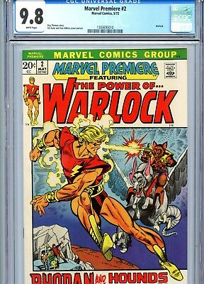 Marvel Premiere #2 CGC 9.8 White Pages Warlock Marvel Comics 1972