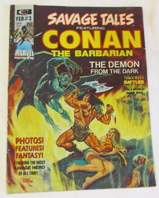 Conan the Barbarian Savage Tales 3 Demon from the Dark 1974 comic book Marvel