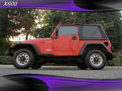 2002 Wrangler SE 5 speed 4x4 2002 Jeep Wrangler, Amber Fire Pearlcoat with 99,515 Miles available now!