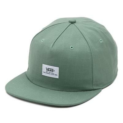 27cda4d6 Vans Off The Wall 100% Cotton Unstructured Light Green Helms Snapback Hat  NWT