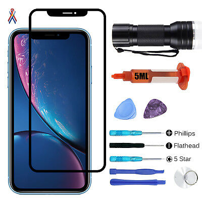 For iPhone XS XR XS Max Screen Replacement Front Touch Screen Glass Lens Tools