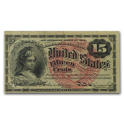 4th Issue Fractional Currency 15 Cents VF (FR#1267) - SKU#47855