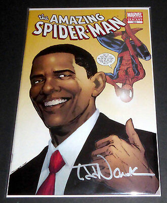 AMAZING SPIDER-MAN #583, Signed by Todd Nauck,  2nd Print Obama Variant