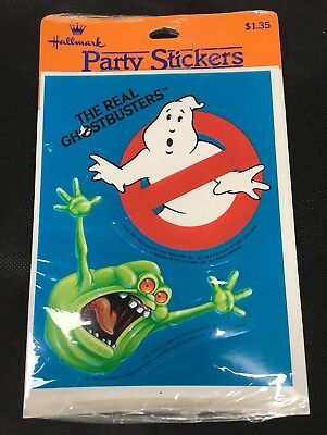 Vintage 1984 The Real Ghostbusters Party Stickers Hallmark SEALED NEW NOS Pack