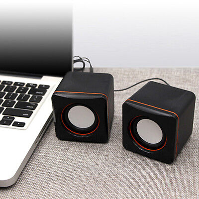 USB mini computer small speaker portable dual speak pN