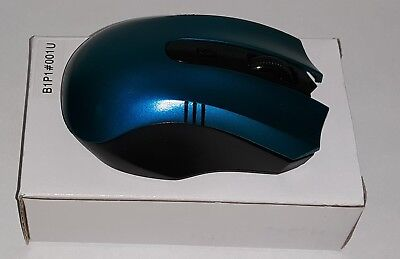 BLUE 2.4GHz Wireless Cordless Optical Mouse Mice +USB Receiver for PC Laptop