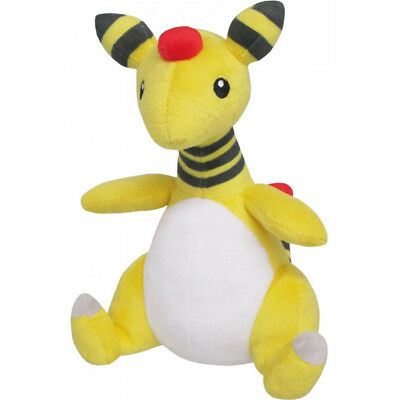 "1x NEW Official Sanei Pokemon Series PP28 Ampharos 8"" All Star Collection Plush"