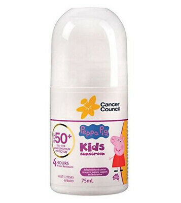 NEW Peppa Pig Spf 50+ Roll On Lotion 75ml