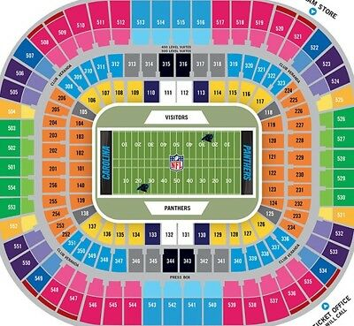 4 Carolina Panthers vs New Orleans Saints Tickets LOWER level section 227