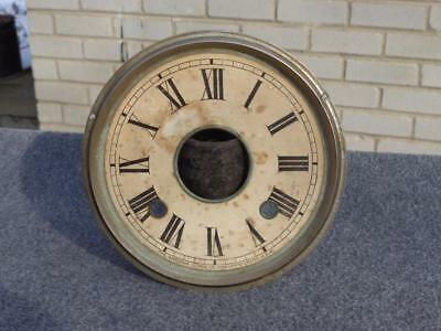 Ansonia Nickel Dial Pan Parlor Kitchen Clock Original Paper Good Condition