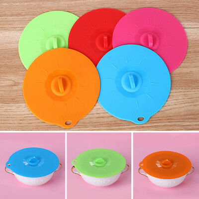 Fresh Shed Cover Bowl Pan Spill Stopper Silicone Lid Universal Pot Covers
