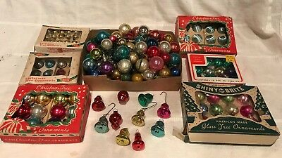 Large Lot Tiny Small Mini Vintage SHINY BRITE CHRISTMAS Japan Glass Balls