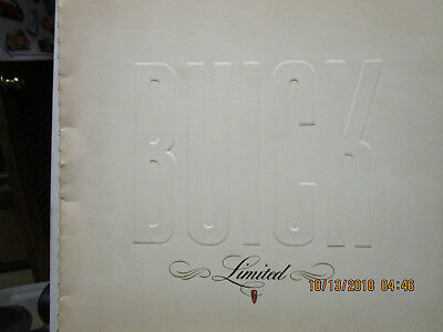 1940 Buick Limited Large Color Sales Catalog --Rare