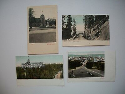 Lot of 4 Antique Postcard Christiania Norge / Norway #2
